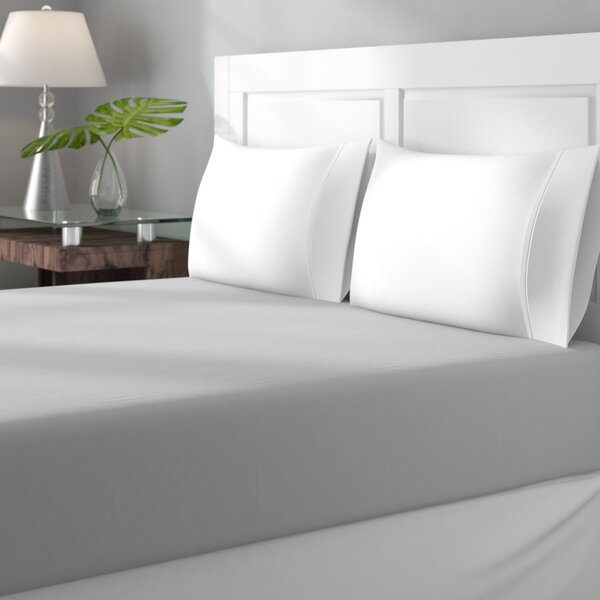 Gavin 100% Cotton Jersey Fitted Bed Sheet by Charlton Home